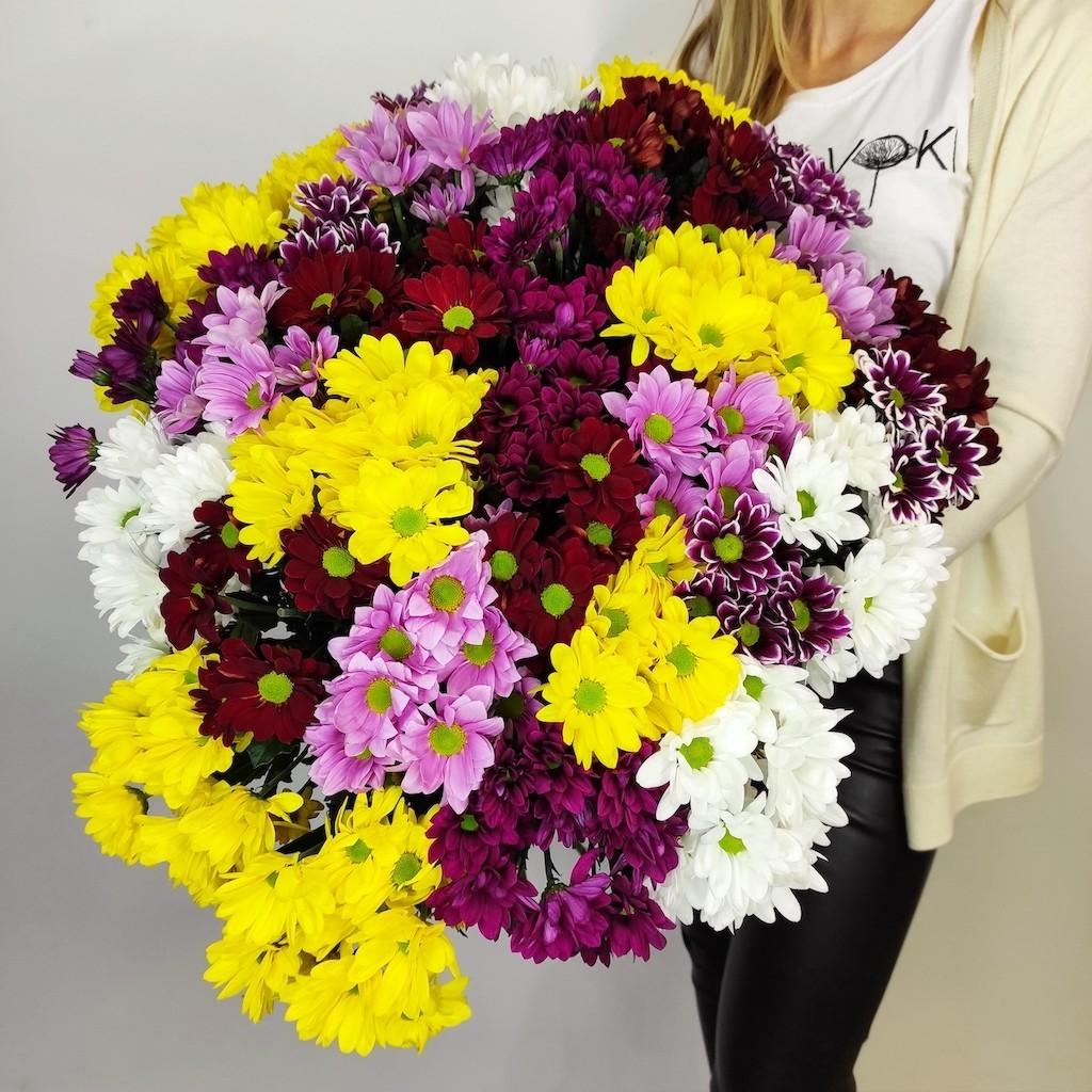 voki flowers 62 - Композиция цветов в кашпо № 1041