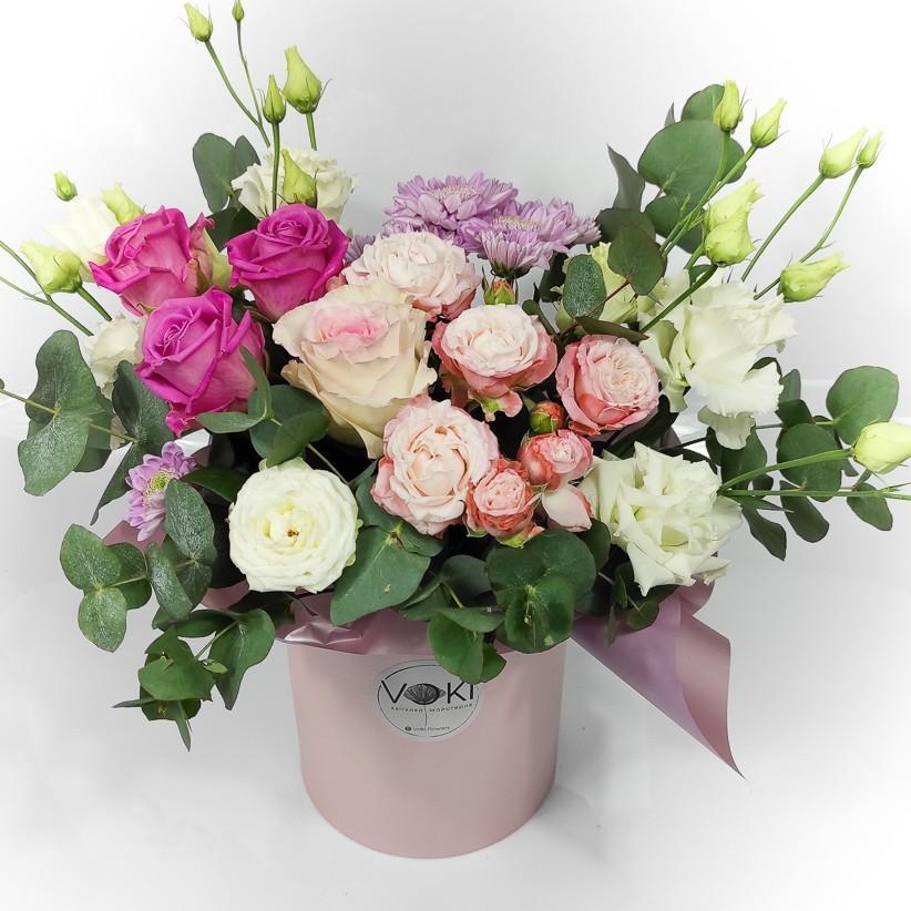 img 20201031 145715 1 - Композиція квітів у коробці № 001