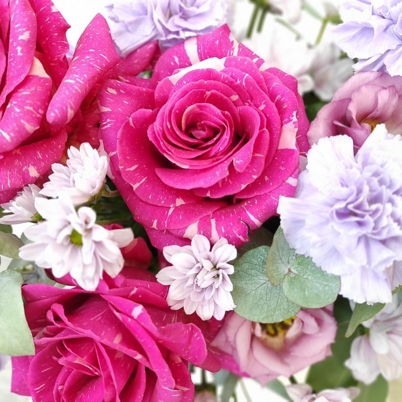 img 20201129 123126 - Композиция цветов в коробке  № 1001