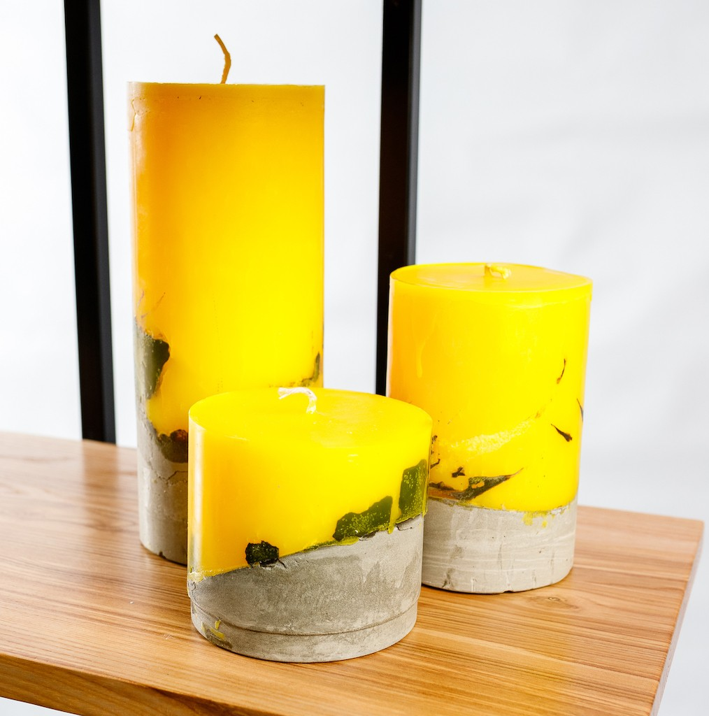 7 001 02 - Свечи лофт с бетонным основанием