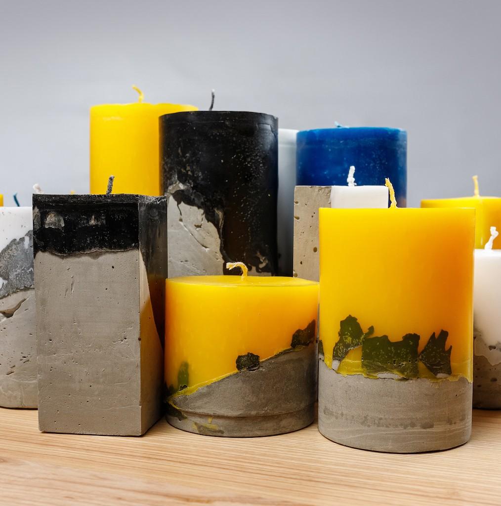 7 001 05 - Свечи лофт с бетонным основанием