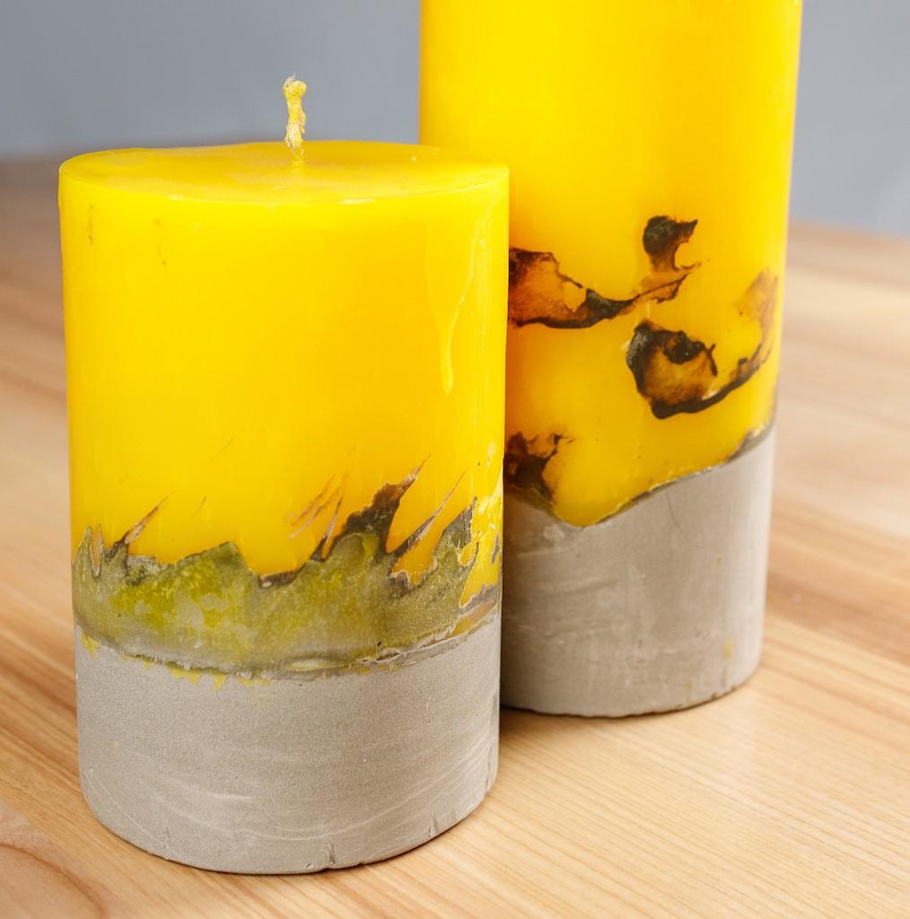 7 002 01 - Свечи лофт с бетонным основанием