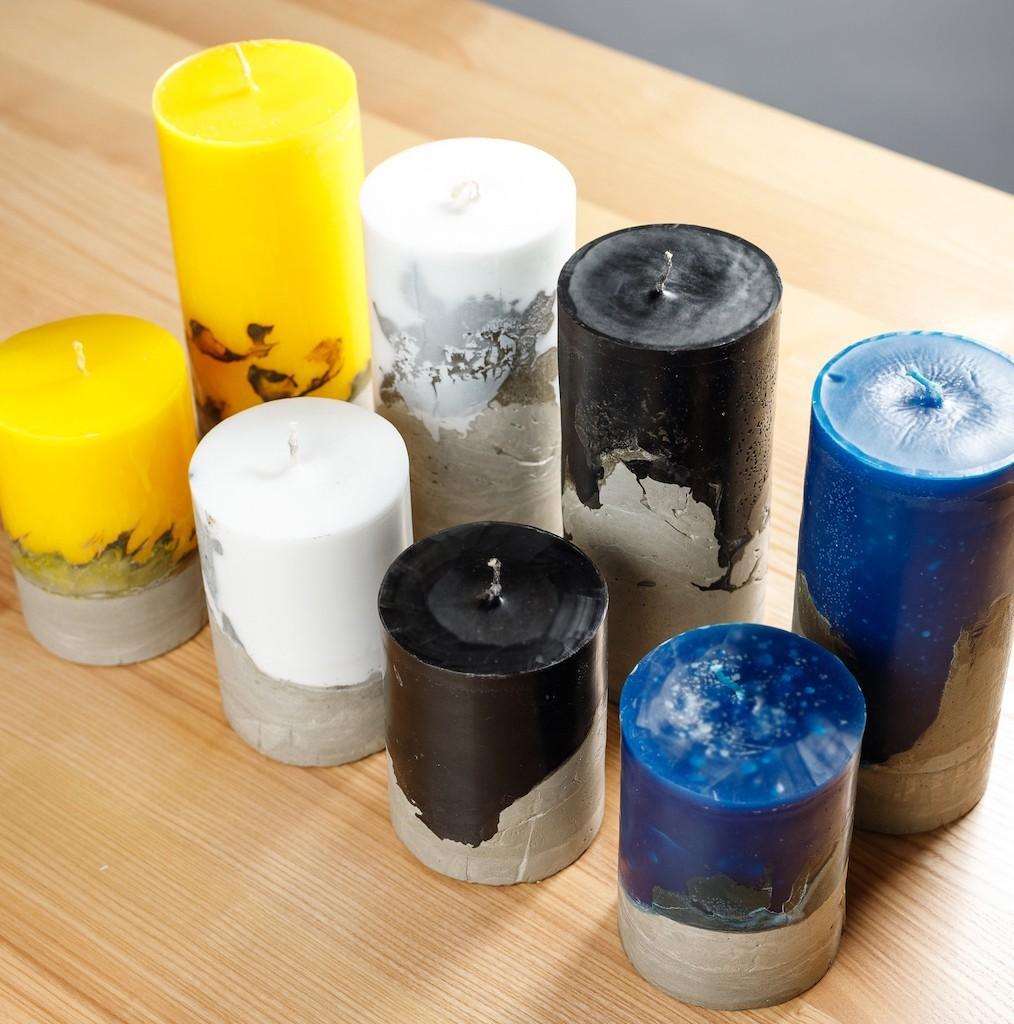 7 002 03 1 - Свечи лофт с бетонным основанием
