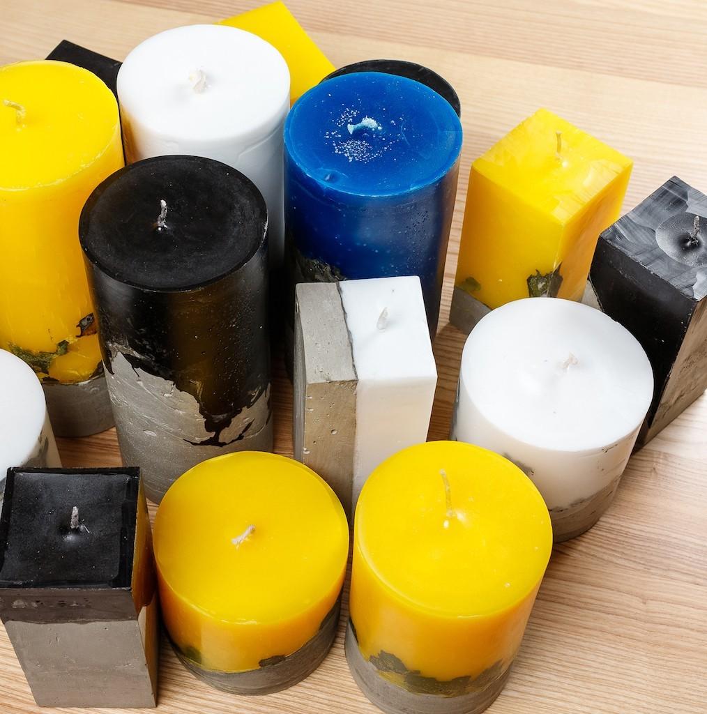 7 002 04 1 - Свечи лофт с бетонным основанием