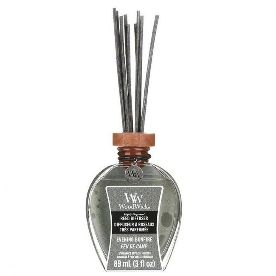 aromadiffuser evening bonfire woodwick1 910x910 1 - Ароматическая свеча Medium Rosewood