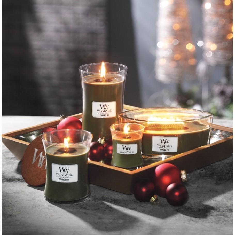 Ароматическая свеча Woodwick Mini Frasier Fir / Vokiflowers