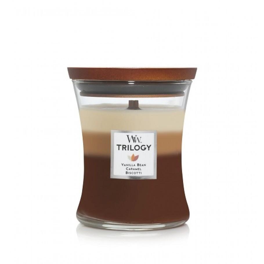 aromaticheskaya svecha trilogy cafe sweets1 medium jar woodwick.jpg 910x910 1 - Свечи лофт с бетонным основанием