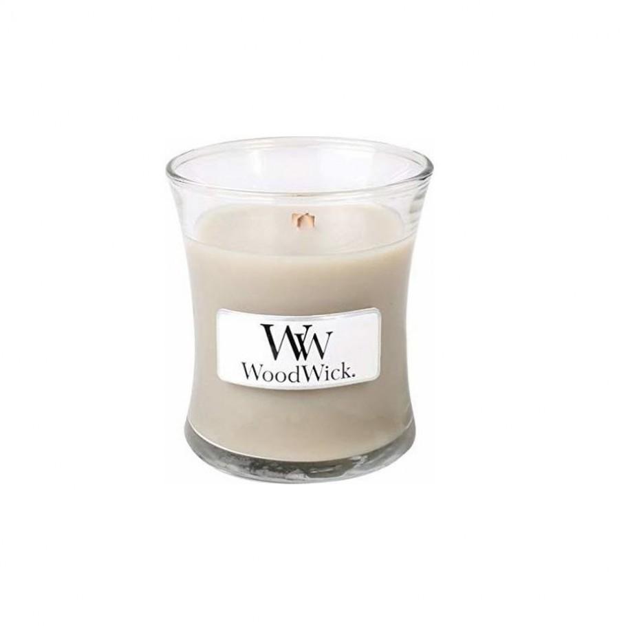 aromaticheskaya svecha wood smoke mini jar woodwick 1 910x910 1 - Ароматическая свеча Woodwick Mini Wood Smoke 85г