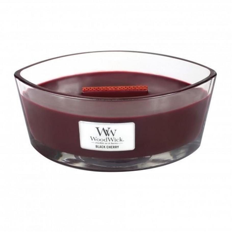 ellipse cherry2 - Ароматическая свеча Woodwick Ellipse Black Cherry