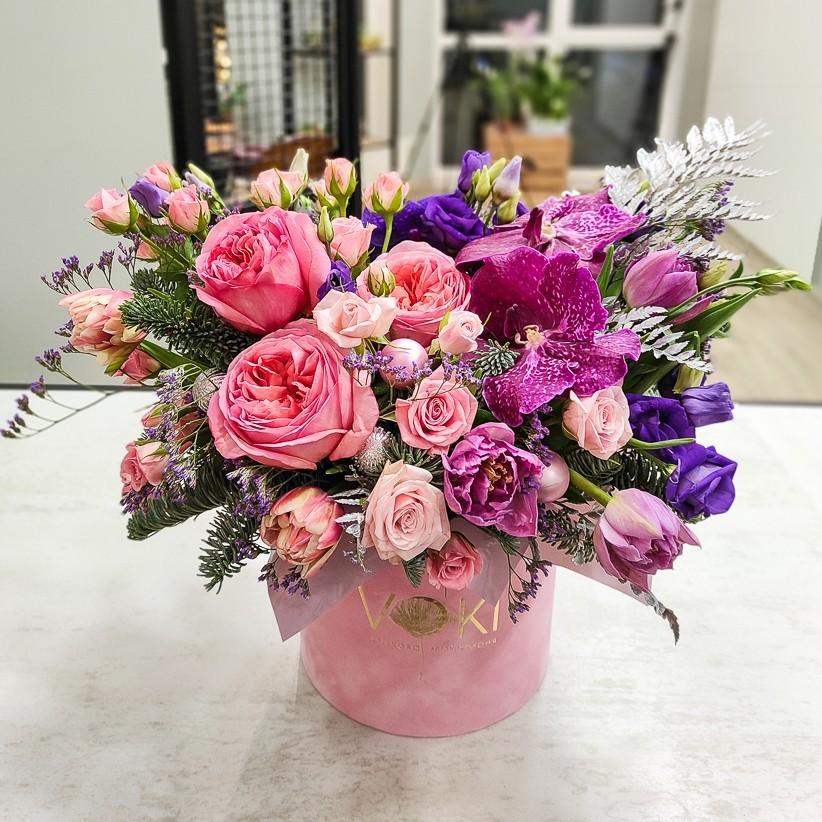 img 20201207 161642 - Композиция цветов в коробке № 1007