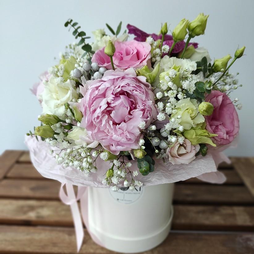 img 20201212 121832 2 - Композиція квітів у коробці № 004
