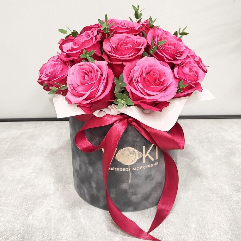 img 20201220 130507 - Композиция цветов в коробке  № 1016