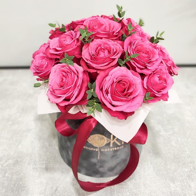 Квіткова композиція у коробці № 1016