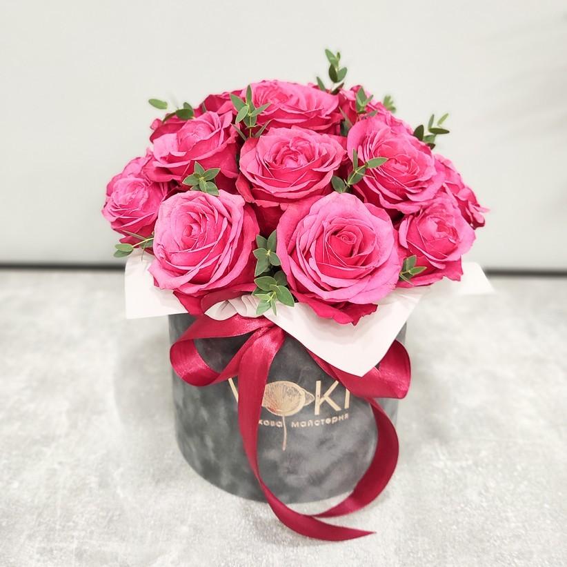 img 20201220 130635 - Композиция цветов в коробке  № 1016