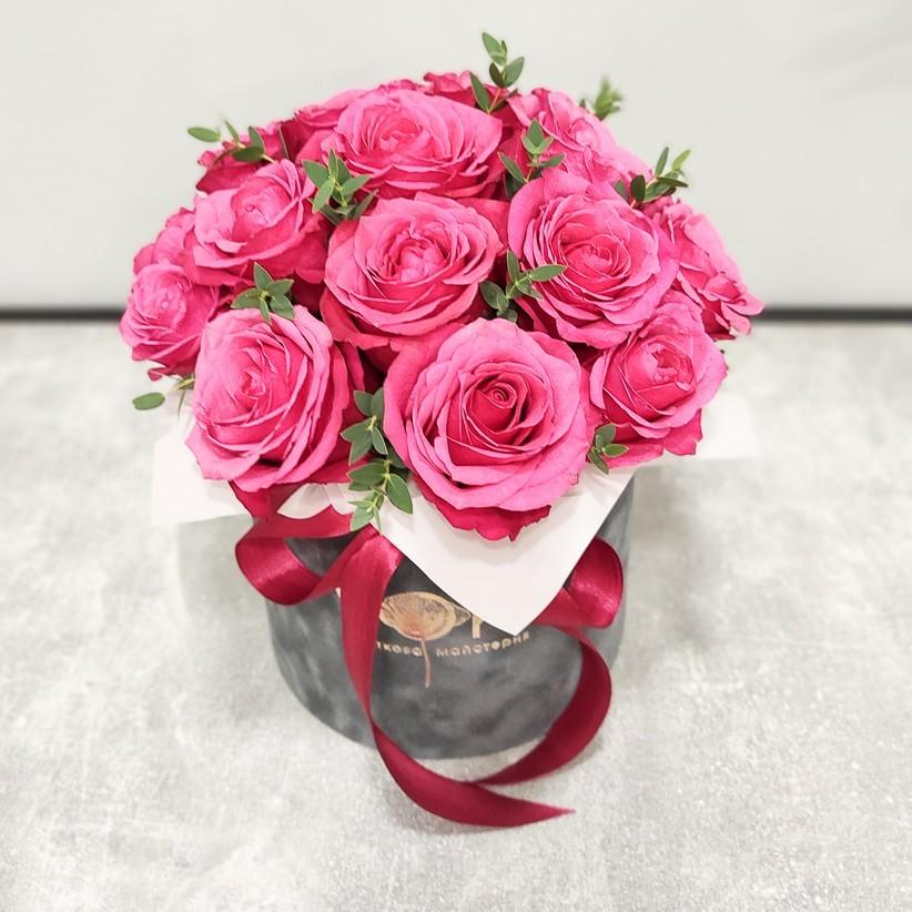 img 20201220 130645 - Композиция цветов в коробке  № 1016