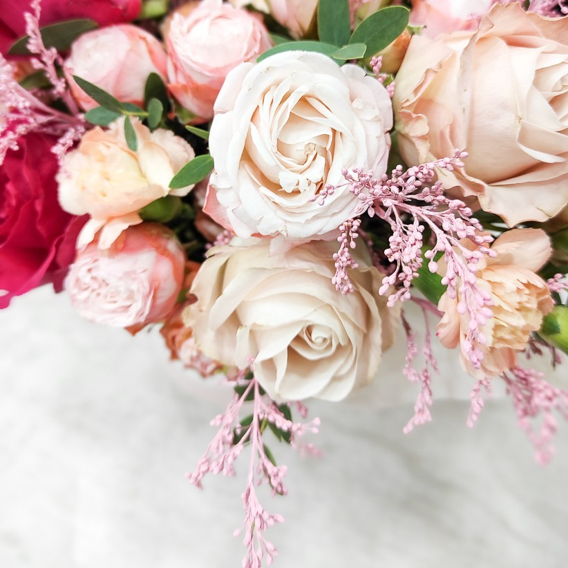 img 20201220 150530 - Композиция цветов в коробке  № 1017