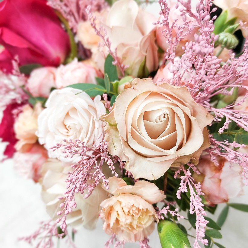 img 20201220 150534 - Композиция цветов в коробке  № 1017