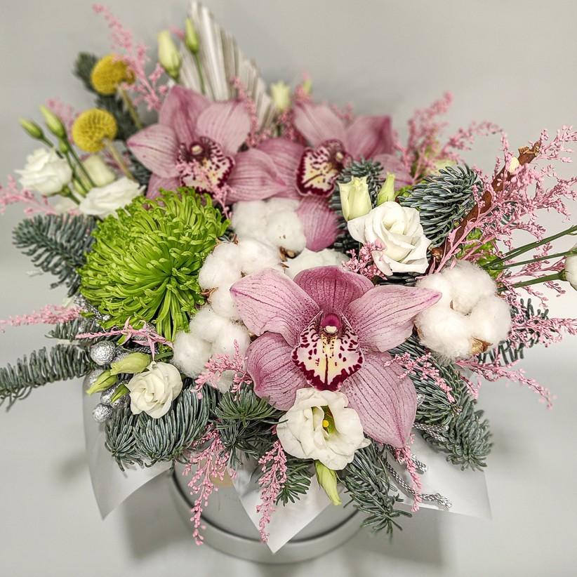 img 20201224 134533 kopija - Квіткова композиція у коробці № 1020