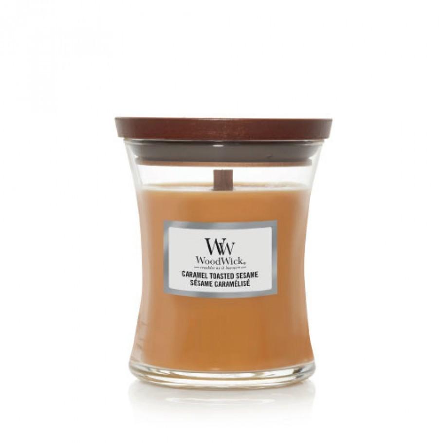 aromaticheskaya svecha caramel toasted sesame1 medium jar woodwick.jpg 910x910 1 - Свечи лофт с бетонным основанием