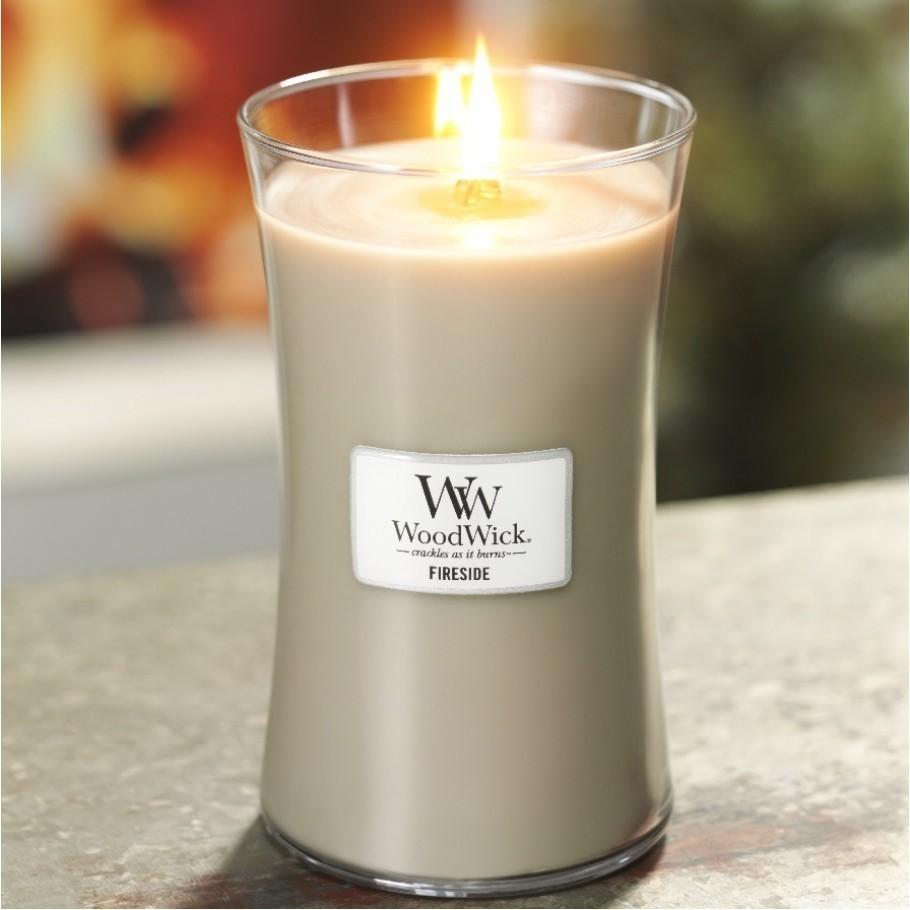aromaticheskaya svecha fireside large jar woodwick 3 910x910 1 - Ароматическая свеча Woodwick Medium Evening Onyx 275г