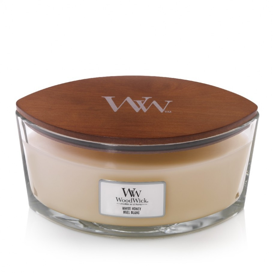 aromaticheskaya svecha white honey ellipse jar woodwick 1 910x910 1 - Ароматична свічка Mini Velvet Tobacco 85 г
