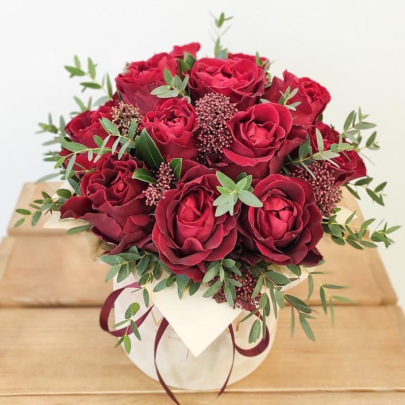 img 20210114 104425 1 - Квіткова композиція у коробці № 1025