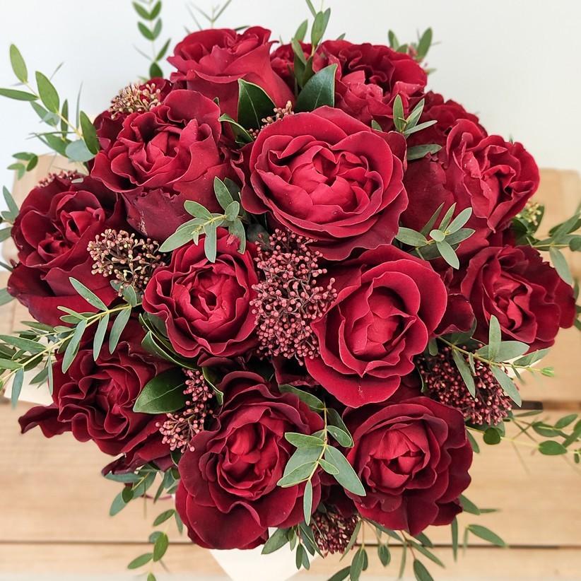 img 20210114 104503 - Квіткова композиція у коробці № 1025
