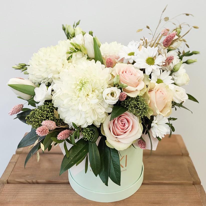 img 20210114 104730 - Квіткова композиція у коробці № 1024