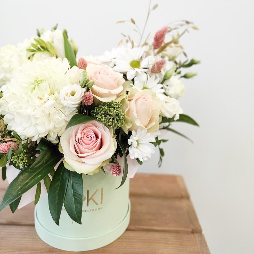 img 20210114 104842 - Квіткова композиція у коробці № 1024