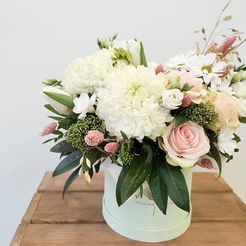 img 20210114 104849 - Квіткова композиція у коробці № 1024