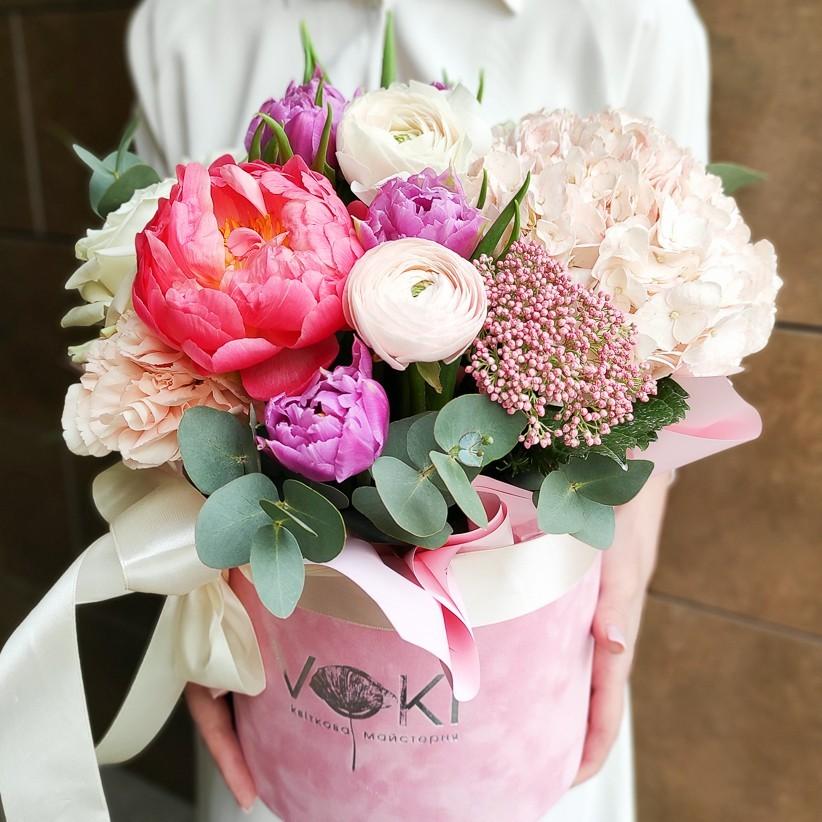 img 20210221 133350 - Композиция цветов в коробке № 1036