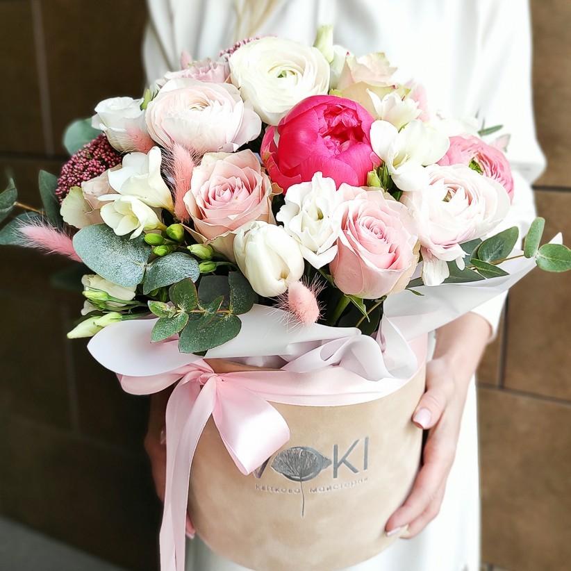 img 20210221 140414 kopija - Композиція квітів у коробці № 1037