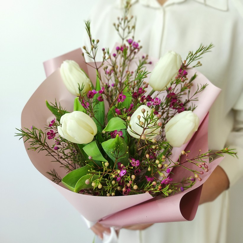 img 20210221 142125 - Букет тюльпанів № 141