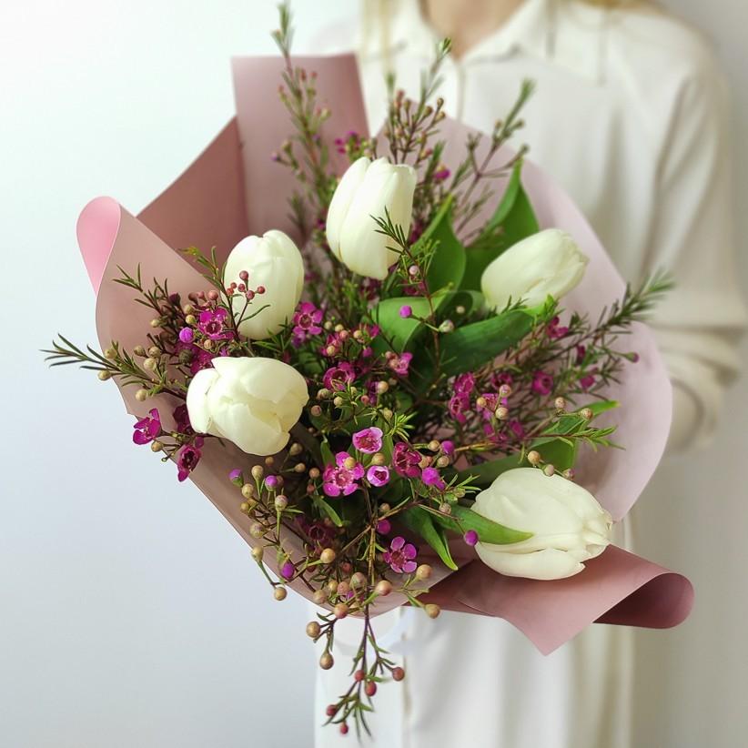 img 20210221 142148 - Букет тюльпанів № 141
