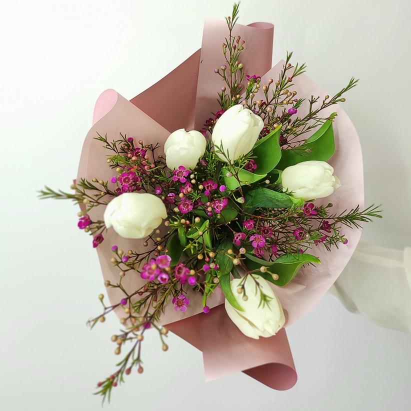 img 20210221 142225 - Букет тюльпанів № 141