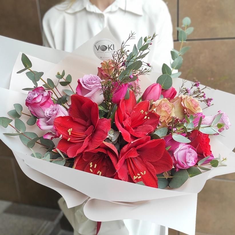 img 20210221 144608 - Букет квітів № 143